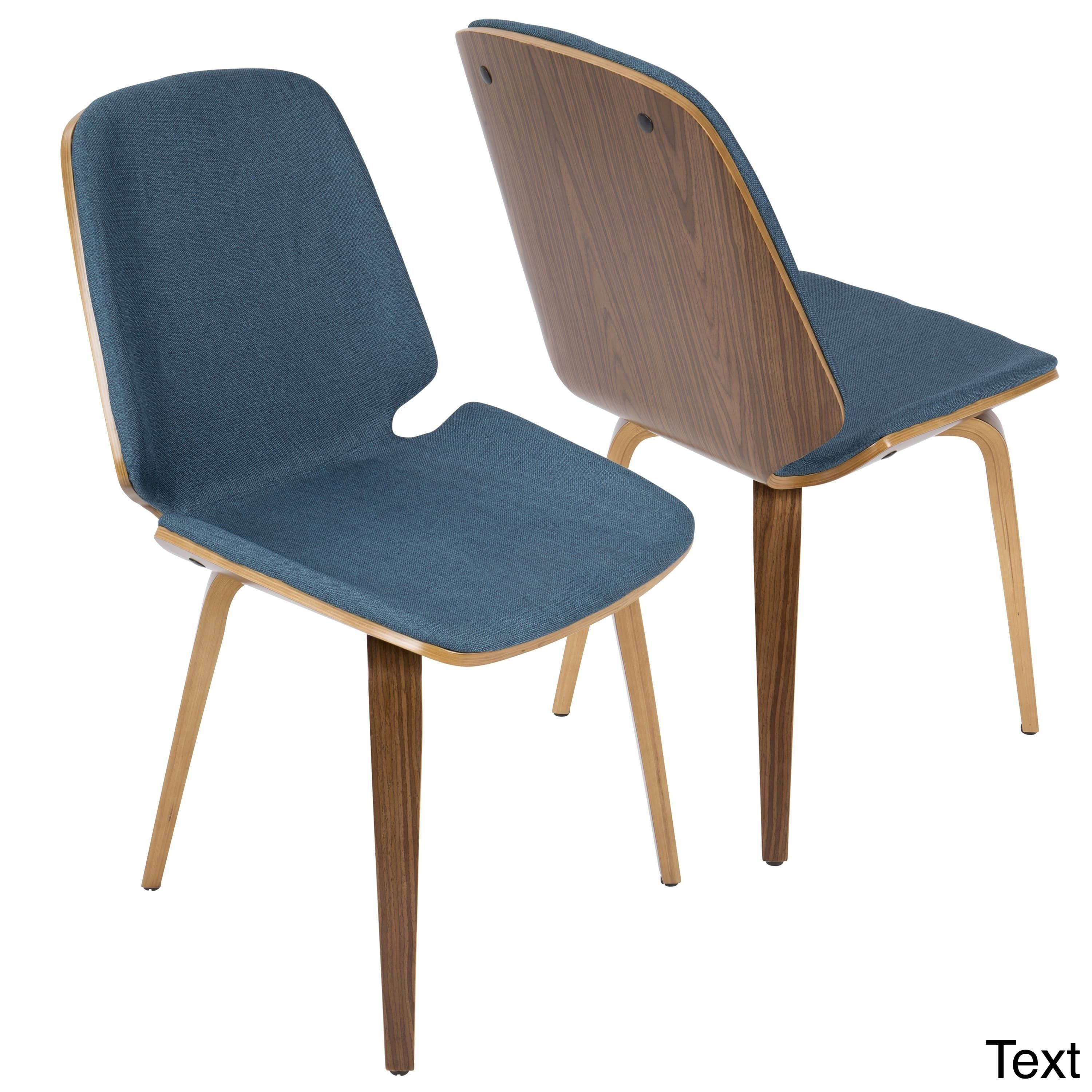 Wondrous Lumisource Serena Walnut Mid Century Modern Dining Chairs Gmtry Best Dining Table And Chair Ideas Images Gmtryco