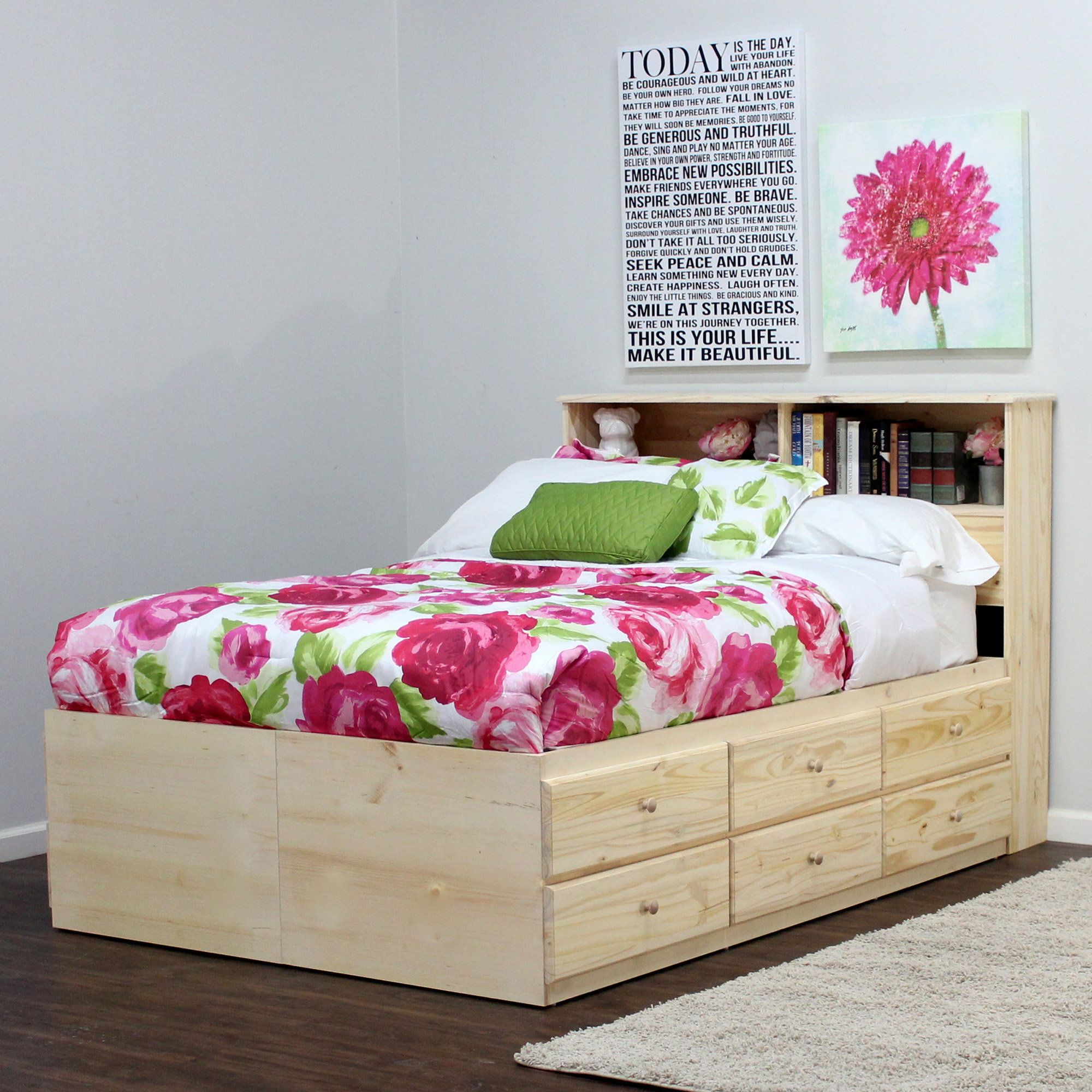 Gothic Furniture Mate and Captain Bed With Drawers