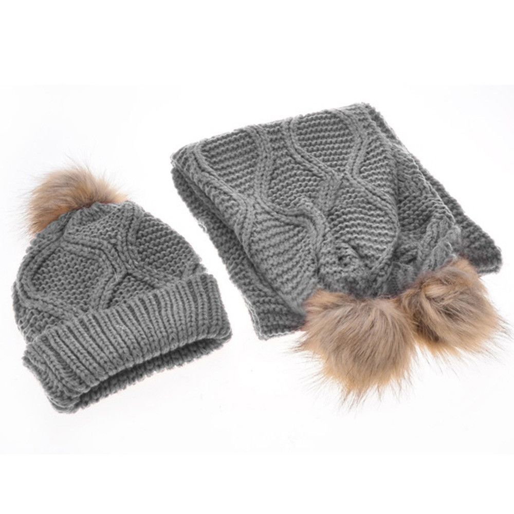 Wool Hat & Scarf Set