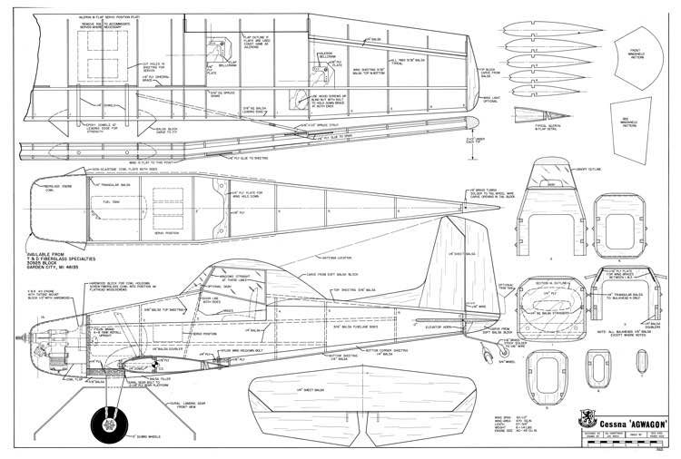 The cessna agwagon is one of the model airplane plans for Construction plan printing