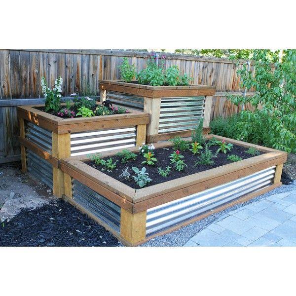 Jardinere En Tole Ondulee Tole Ondulee Projets De Jardins Idee Jardinage