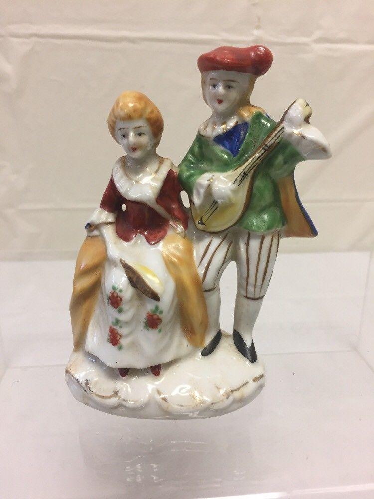 Other Decorative Collectibles Vintage Ceramic Porcelain Colonial Man Miniature Figurine Japan Collectibles