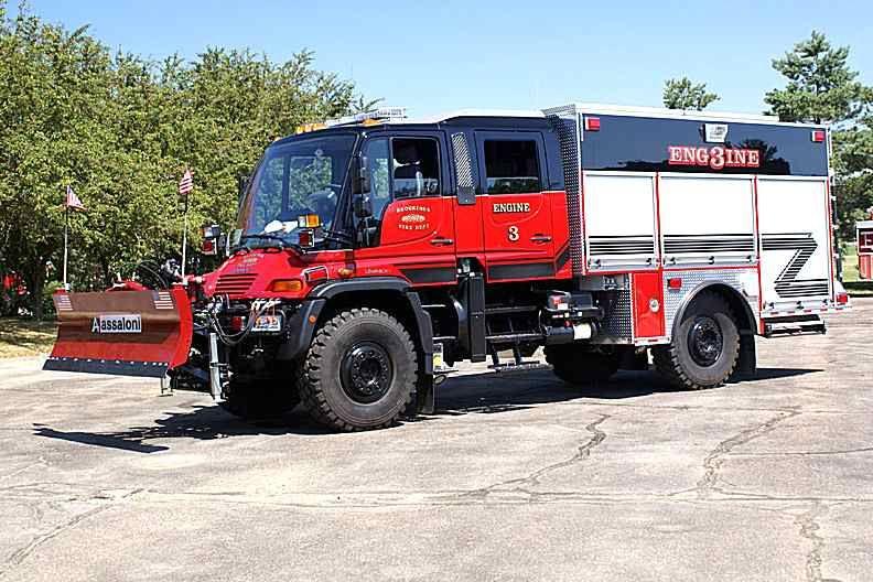 Firemen plow