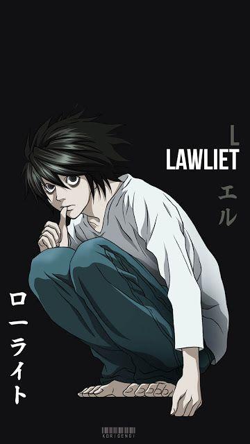 L Lawliet Death Note Wallpaper L Death Desenho De Ninja Manga Wallpaper