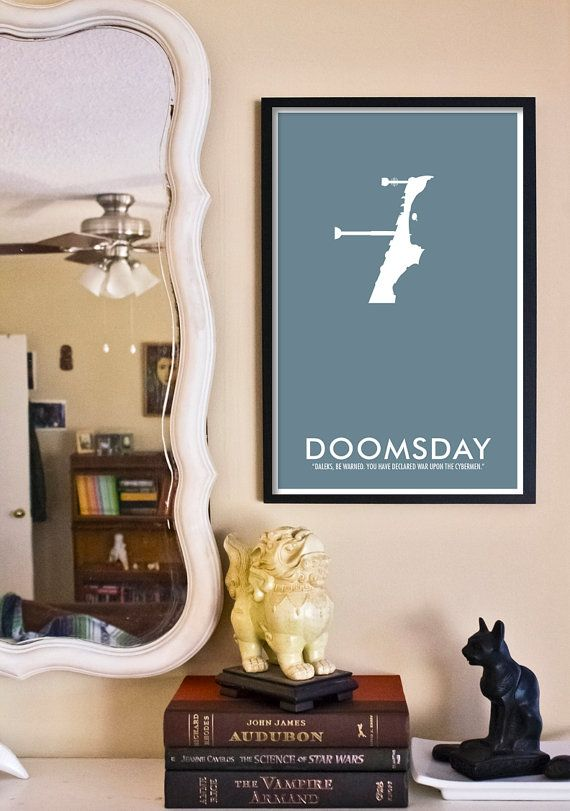 Doctor Who Poster Doomsday   11x17 Science Fiction by TheGeekerie, $18.00