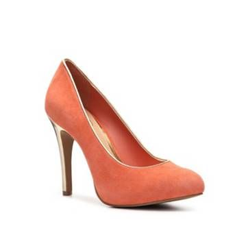 coral shoe for bridesmaids