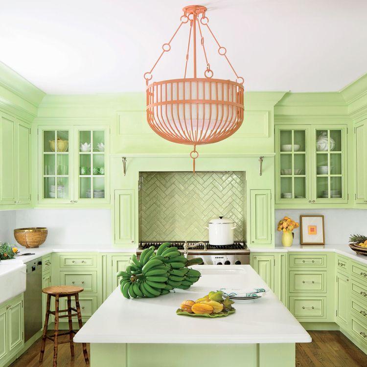küche pastell pastellgrün retro fliesen spritzschutzjpg - fliesen küche modern