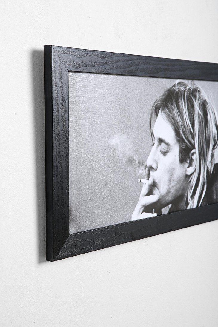 Kurt Cobain Framed Wall Art | Framed wall art, Walls and Urban