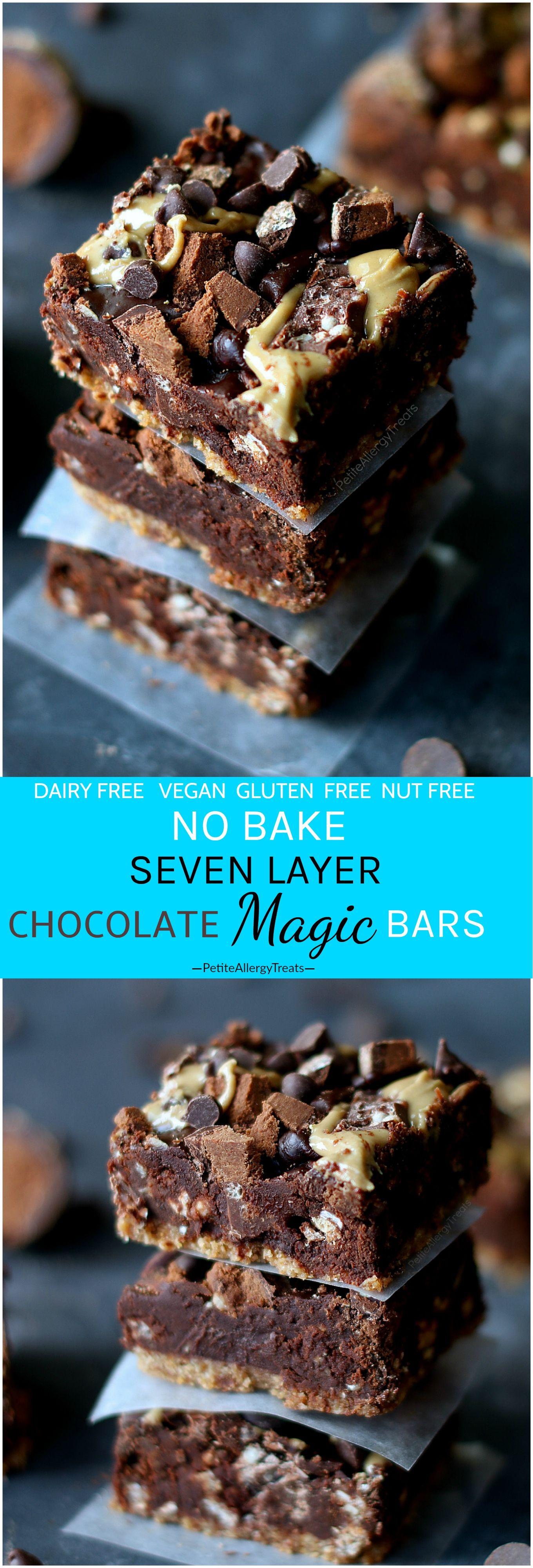No Bake Chocolate Seven Layer Magic Bars (Vegan + Gluten Free ...