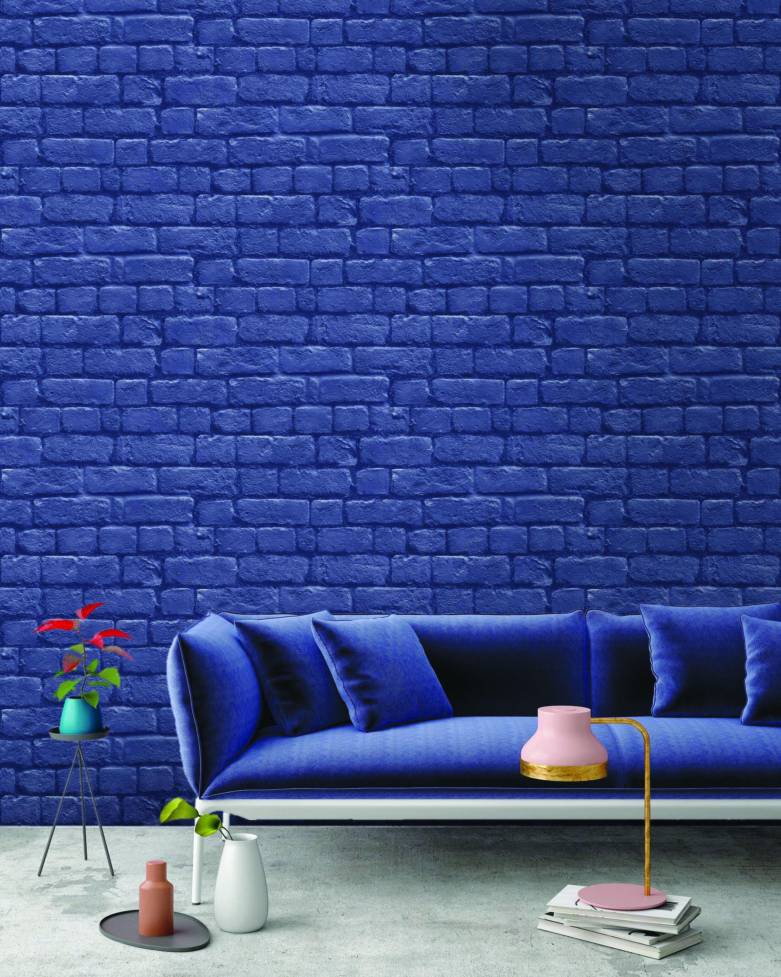 Blue Brick Wallpaper Wallpaper Living Room Brick Wallp