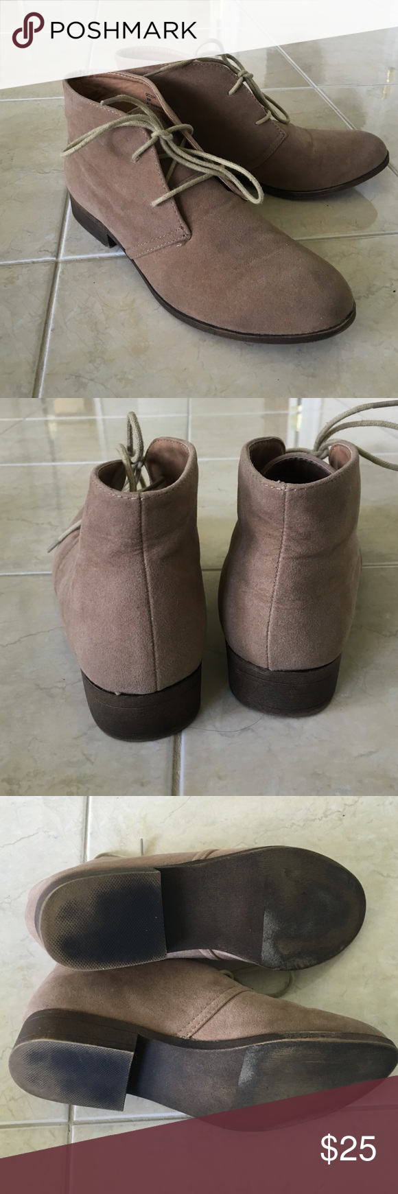 CLEAR OUT SALE Lace up booties In used condition, but still have a lot of life in them. Madden Girl Shoes