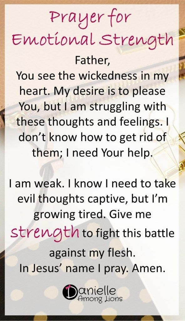 Prayers for Strength and Healing - Danielle Among