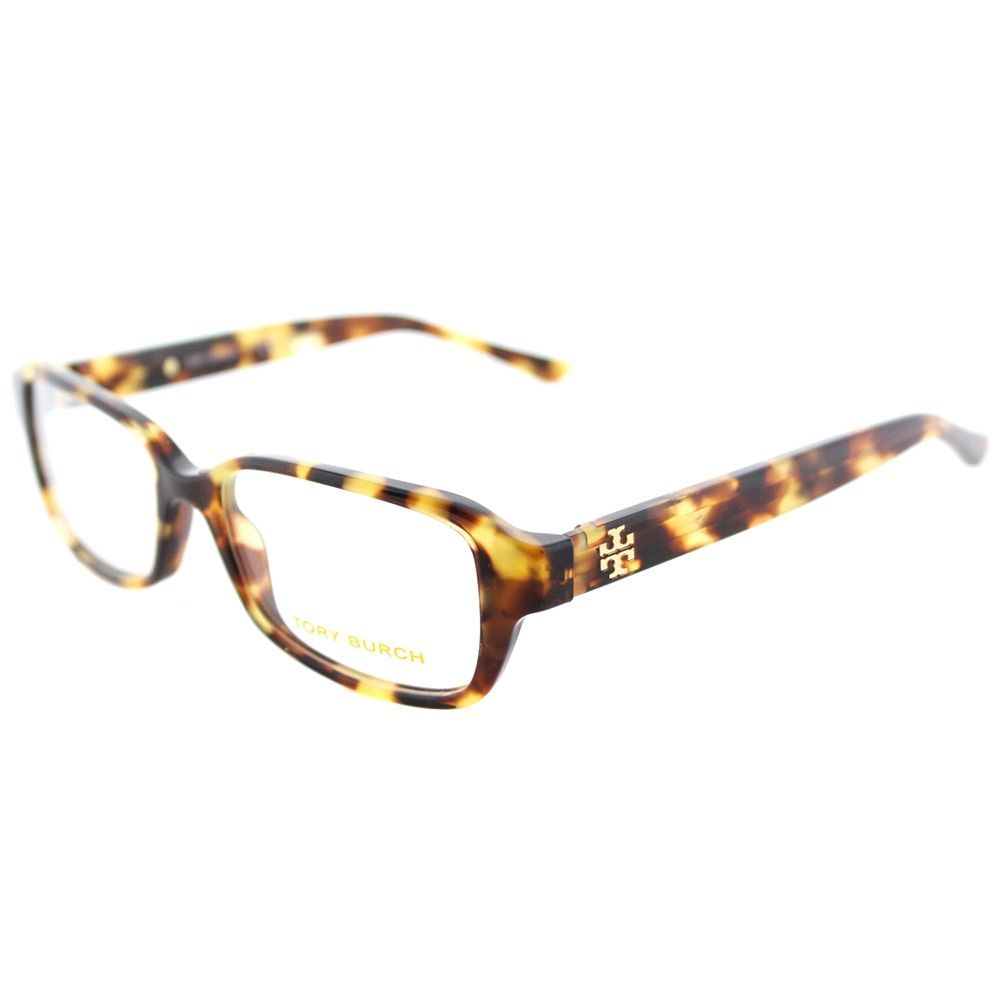 d8329f828e1 Tory Burch TY 2070 1150 Tokyo Tortoise Rectangle Eyeglasses 50mm ...