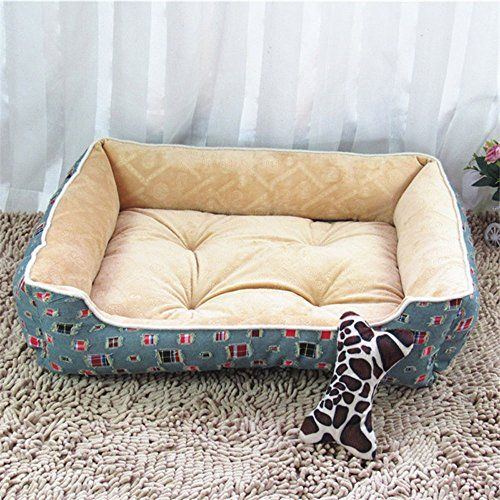 Bigbig Home Oxford Pet Nest Warm Durable Removable Cotton Dog Bed Pet Products Waterproof Pet Mats Antique Yellow Not Included Blankets Dog Bed Pet Mat Bed