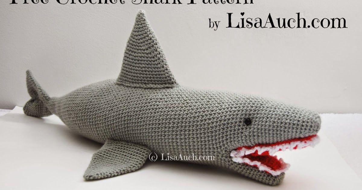 Free Crochet Shark Pattern Gabe Grandma Pinterest Crochet