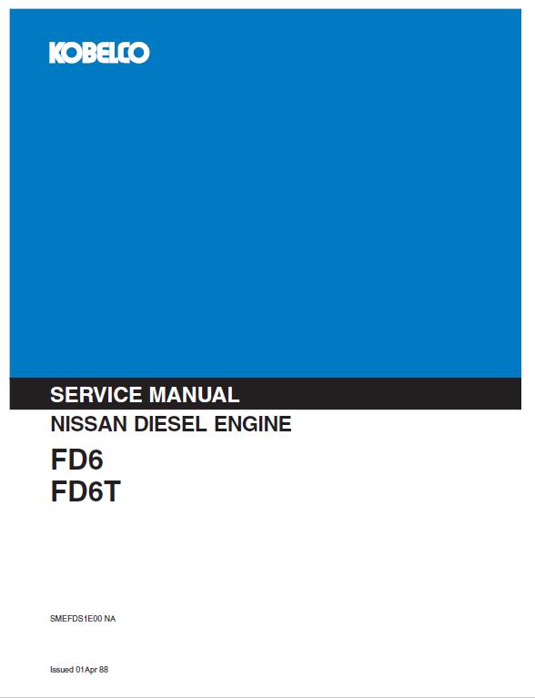 Nissan Fd6 Fd6t Engine Workshop Service Manual Nissan Manual Workshop