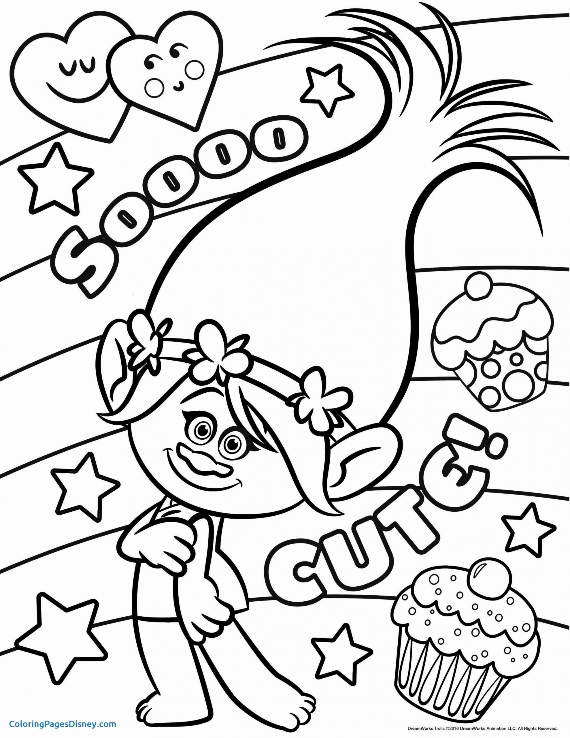 Princess Poppy Coloring Page Youngandtae Com Poppy Coloring Page Disney Coloring Pages Free Disney Coloring Pages