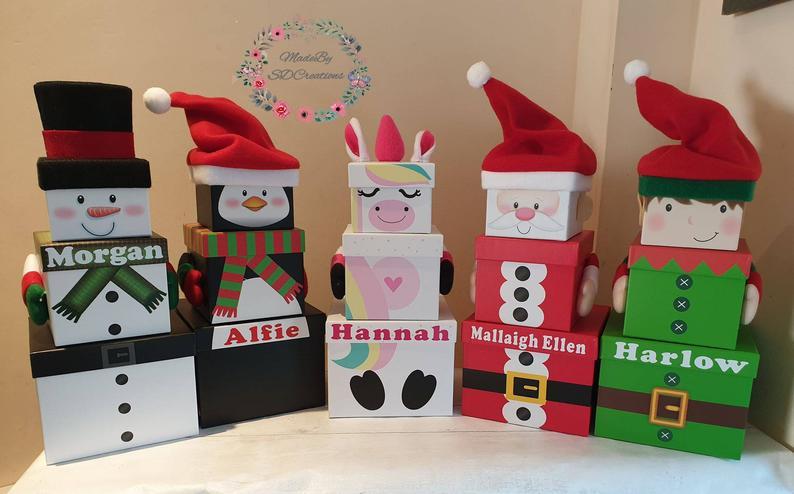 Christmas Select Gift Box 2020 Christmas gift box, Christmas eve box, unicorn gift box, penguin