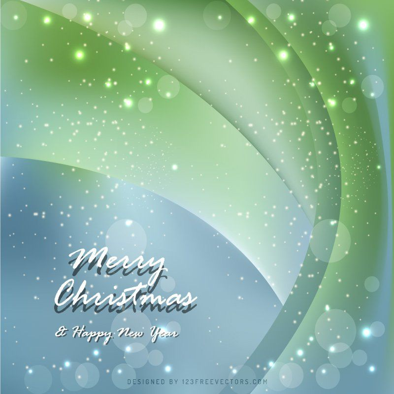 Blue Green Elegant Christmas Background Vectors
