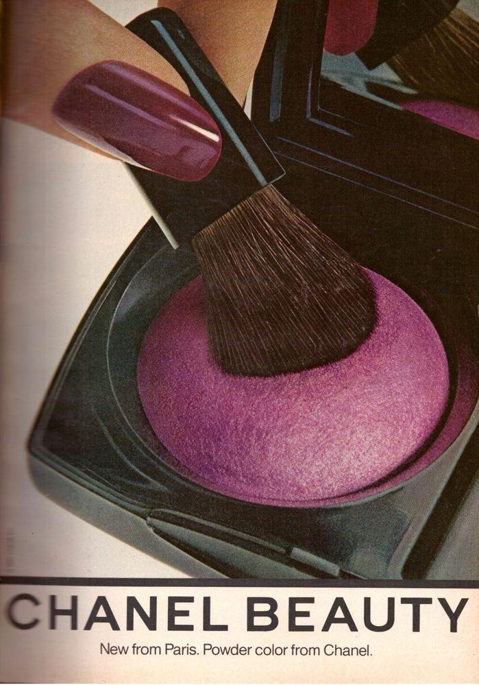 1980 Chanel Beauty Cosmetics Makeup Print Advertisement Ad