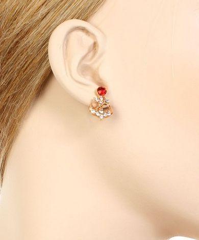 Anchor Rhinestone earrings
