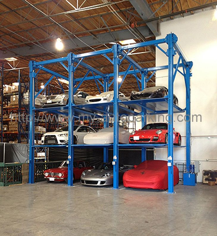 On sale vertical stacker car parking equipment 2 3 4 for Garage low cost auto