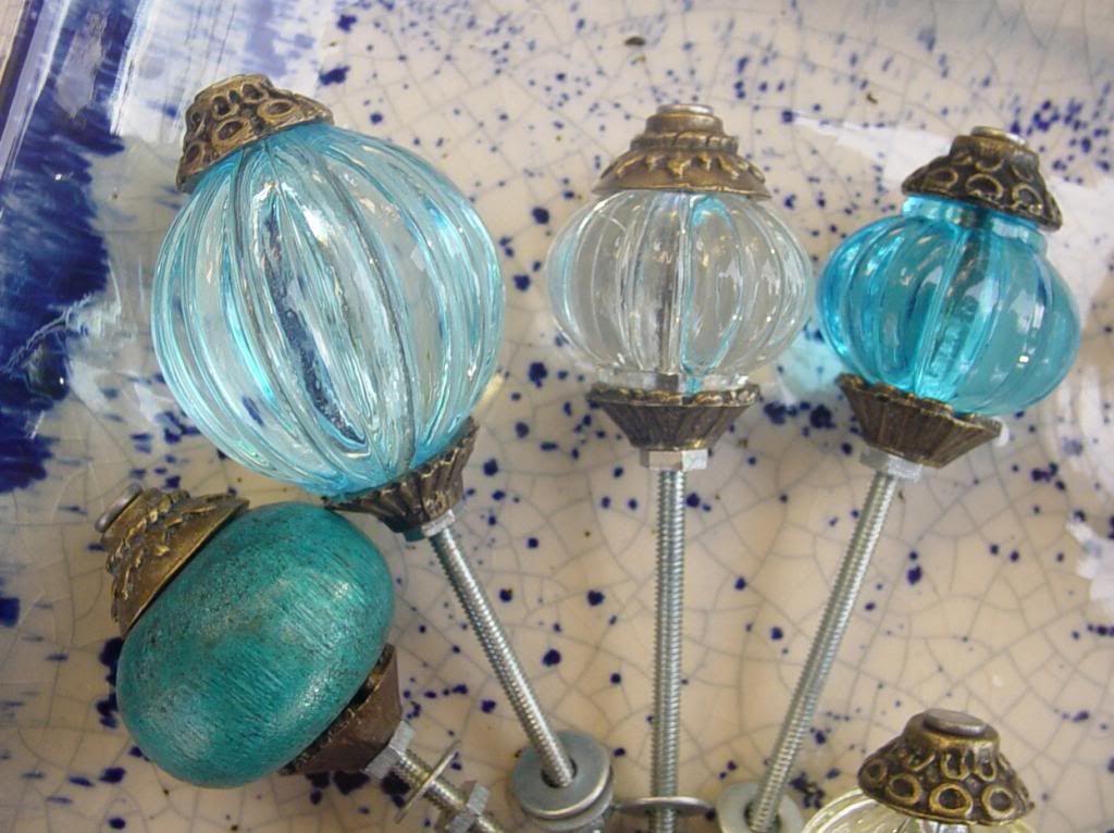 Tirador perilla p mueble flor vidrio transparente tallado - Tiradores de cajones ...