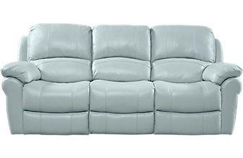 vercelli aqua leather power reclining sofa living room furniture rh pinterest co uk