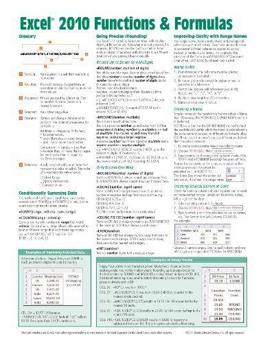 Bestseller Books Online Microsoft Excel 2010 Functions  Formulas