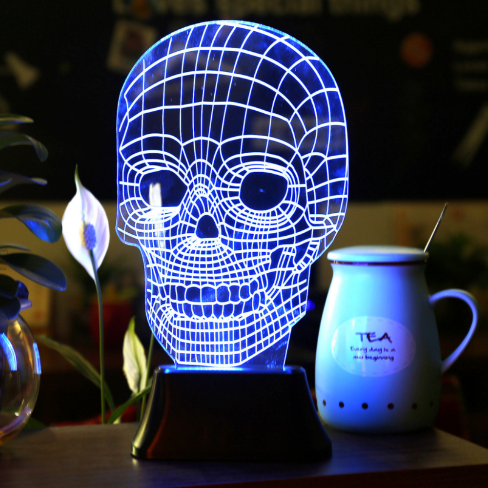 3d Illusion Led Skull Lamp Free Shipping Beauteousgifts Star Wars Lamp Star Night Light Skull Light