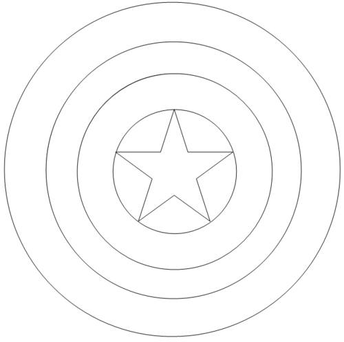 Avengers Symbol Coloring Pages : Captain america logo coloring page pages