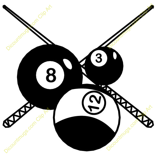 Clip Art Pool Art Billiards Decor
