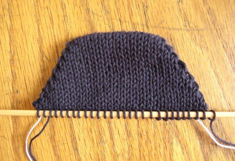 Knitting Wrap And Turn Tutorial : Wrap and turn knit socks darts