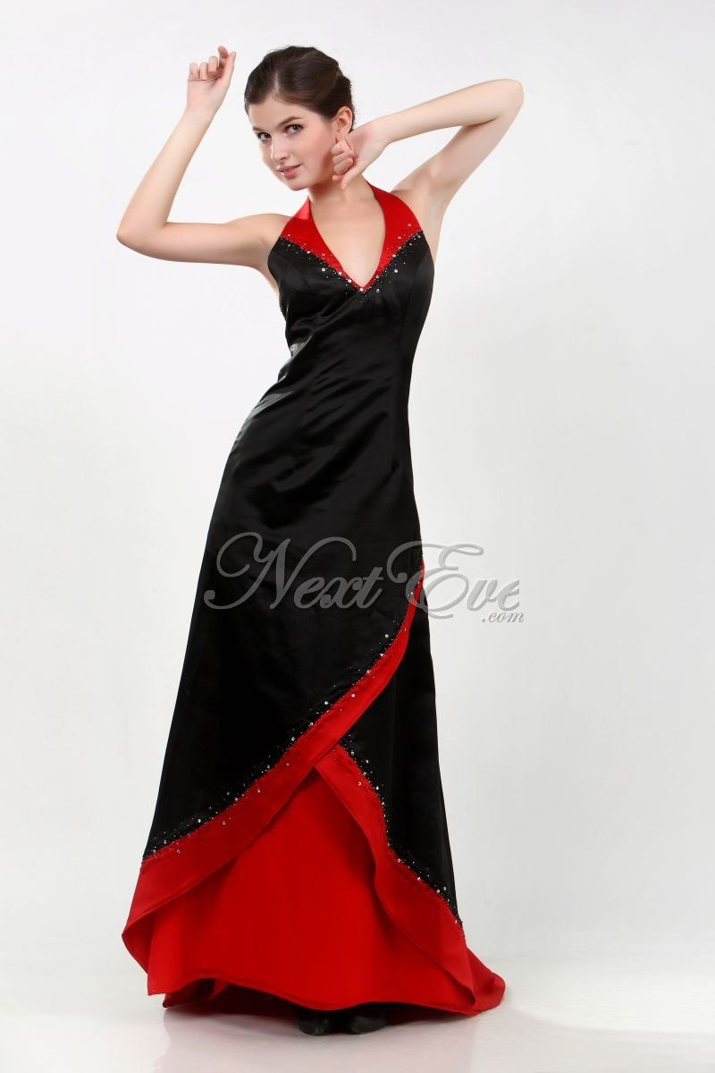 Red or black bridesmaid dresses