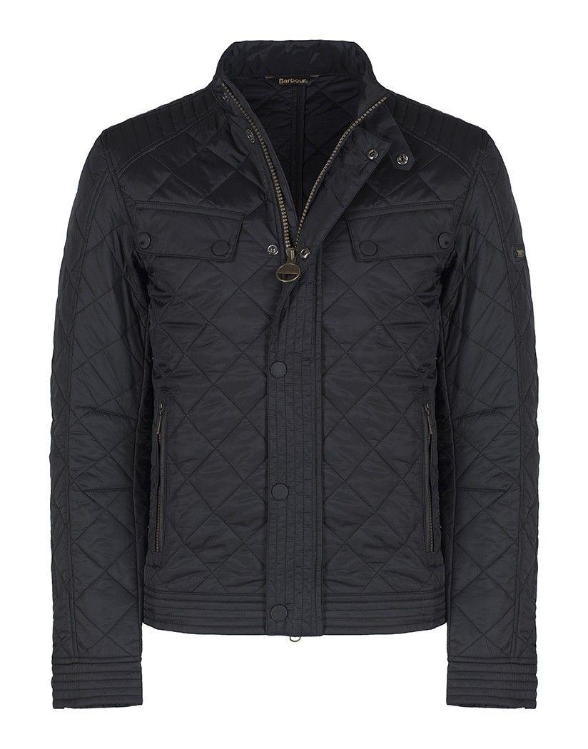 Mens jacket barbour - Barbour International Men S Coolant Quilted Jacket Black Mqu0716bk91