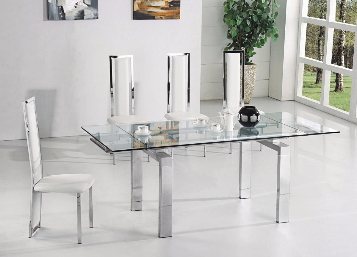 Image Result For Extendable Frosted Gl Dining Table And Chairs Clearance