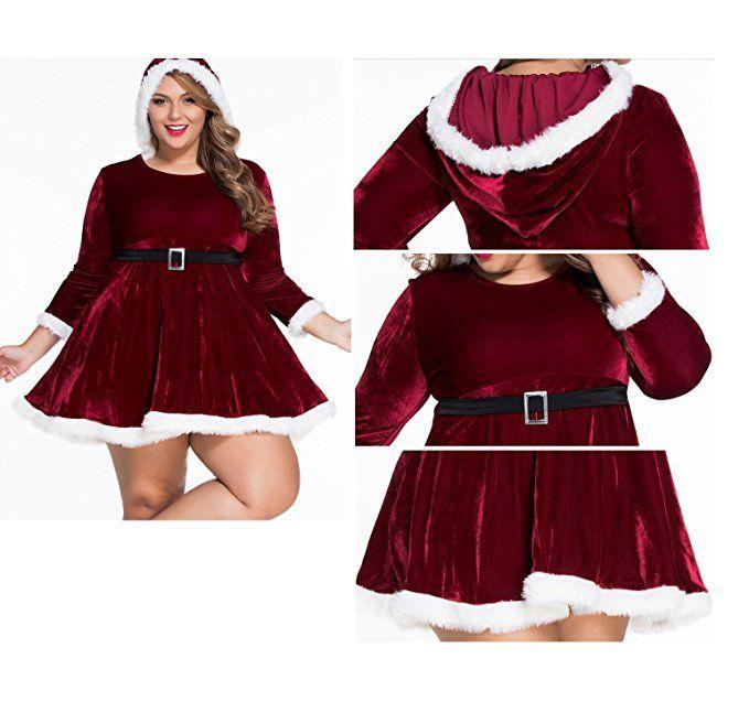 Kissria Women Sexy Lingerie Red Miss Santa Claus Christmas Xmas
