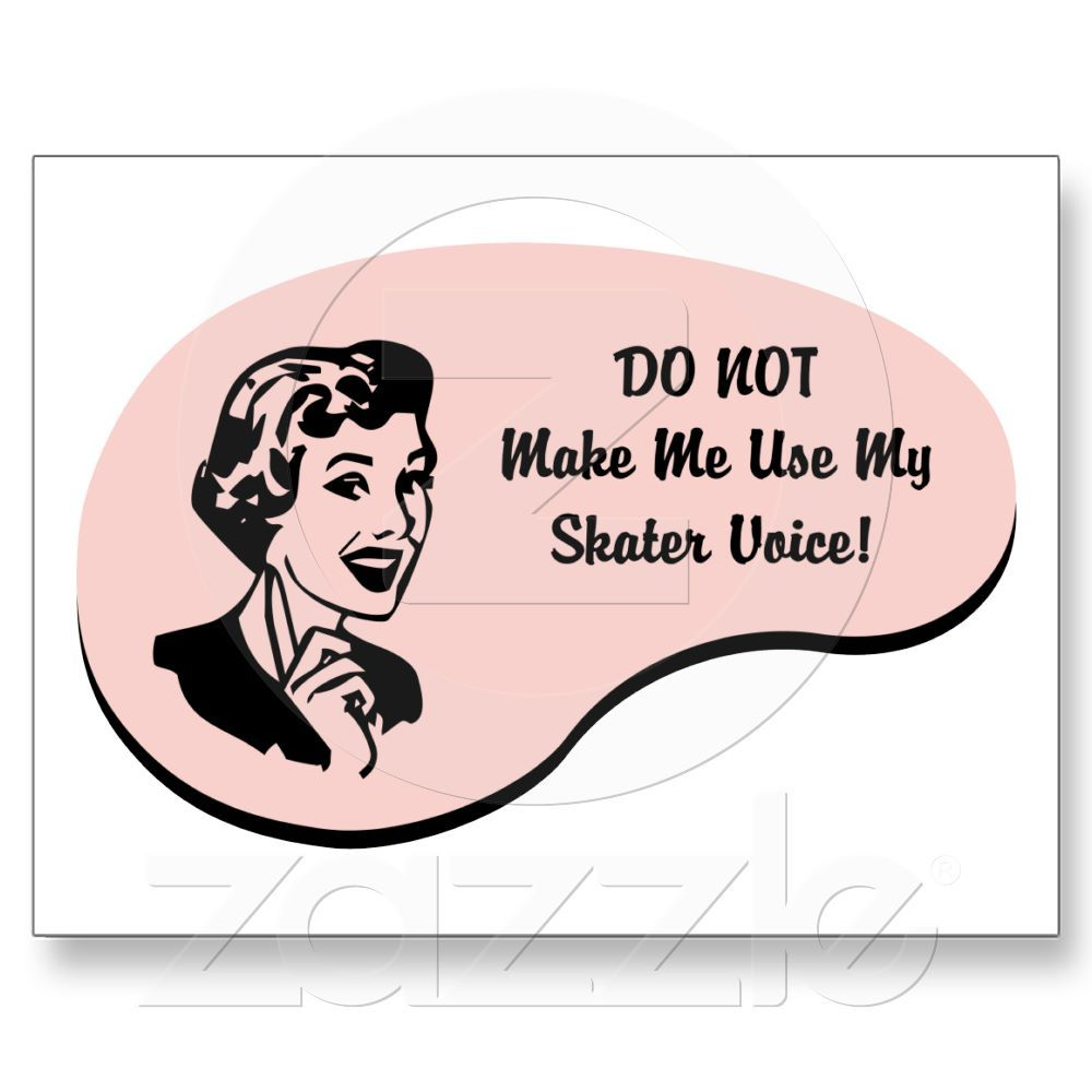 Skater Voice Post Card from Zazzle.com