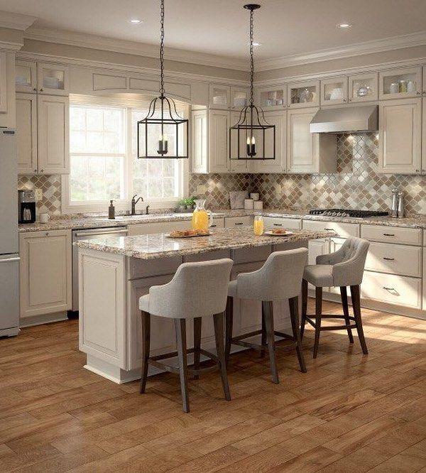 Hazelnut glaze maple cabinets, bronze country cottage ...