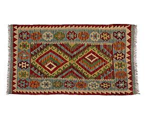 Kilim artesanal de lana Maimana - 80x124cm