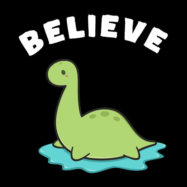 Believe in Loch Ness Monster - NeatoShop | Monster drawing ...