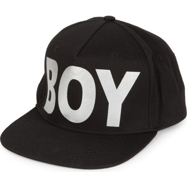 BOY LONDON Metallic BOY snapback cap ( 49) ❤ liked on Polyvore featuring  men s fashion 5cce3fd691db