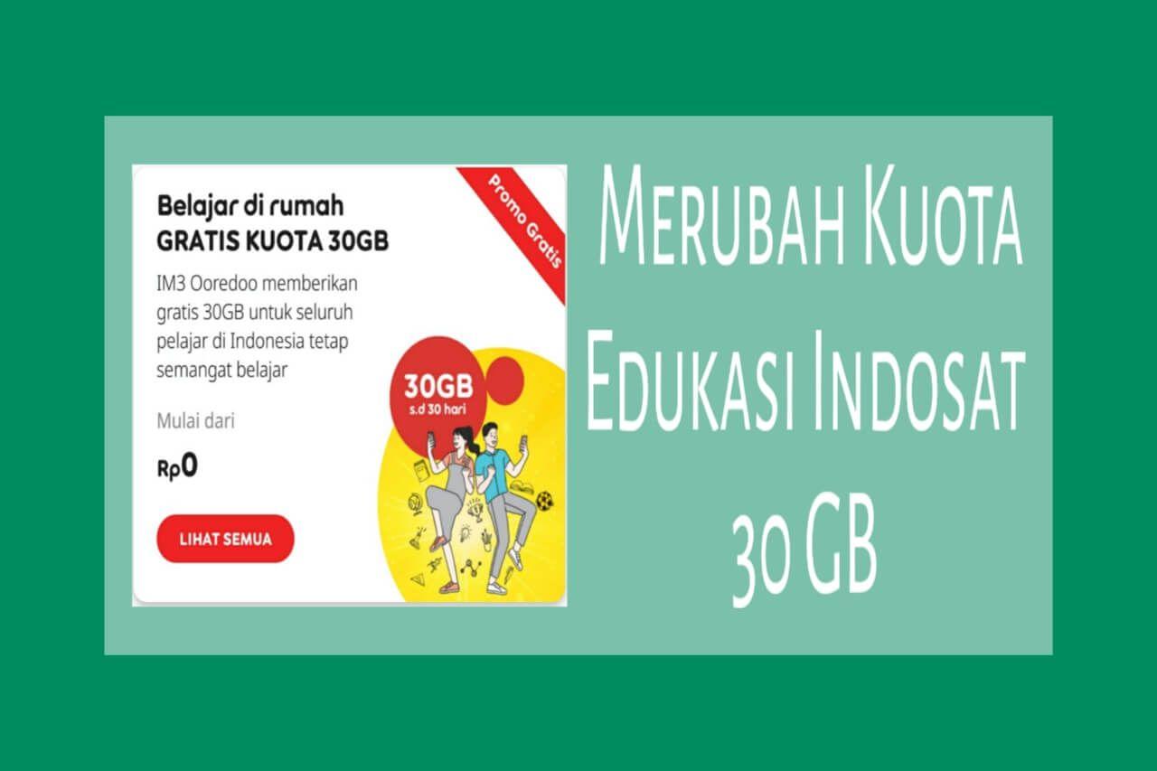 Cara Mudah Merubah Kuota Edukasi Indosat 30gb Menjadi Kuota Utama Regular 24 Jam E Learning Belajar Belajar Di Rumah