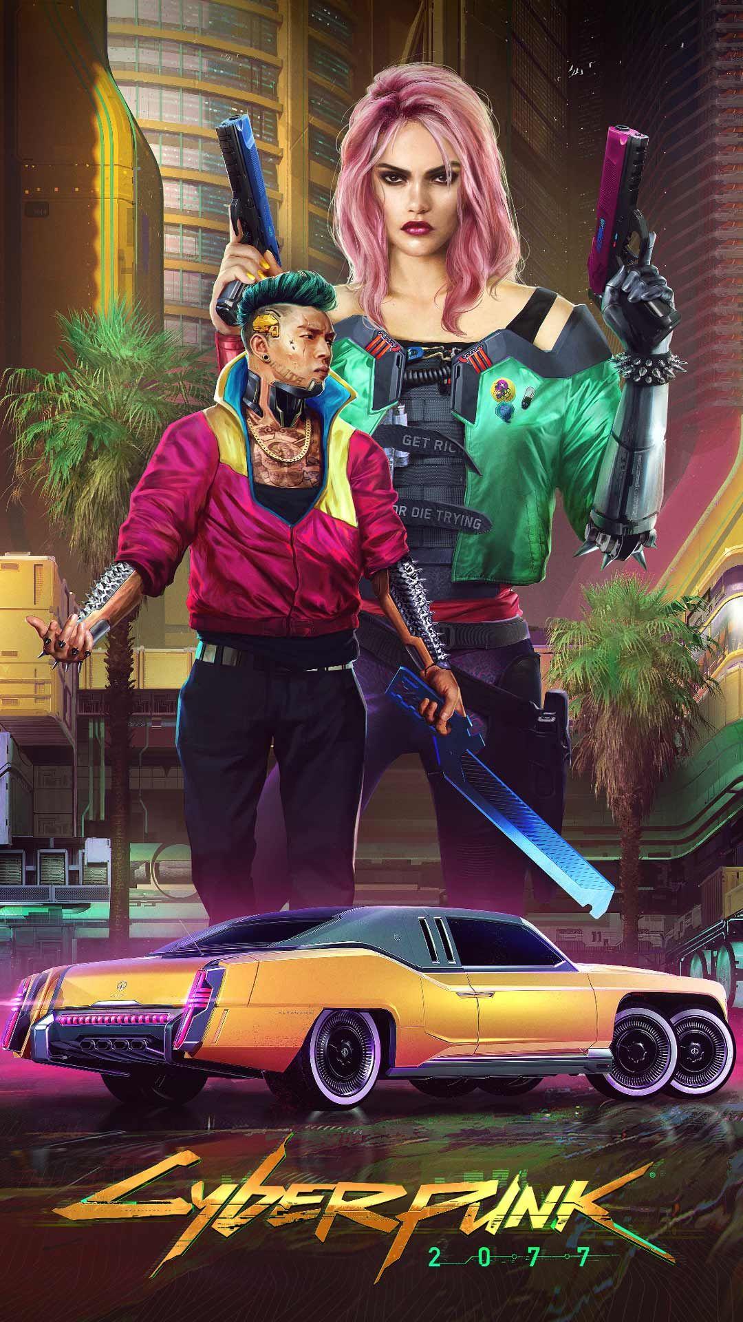 Cyberpunk 2077 wallpaper HD phone backgrounds Night city
