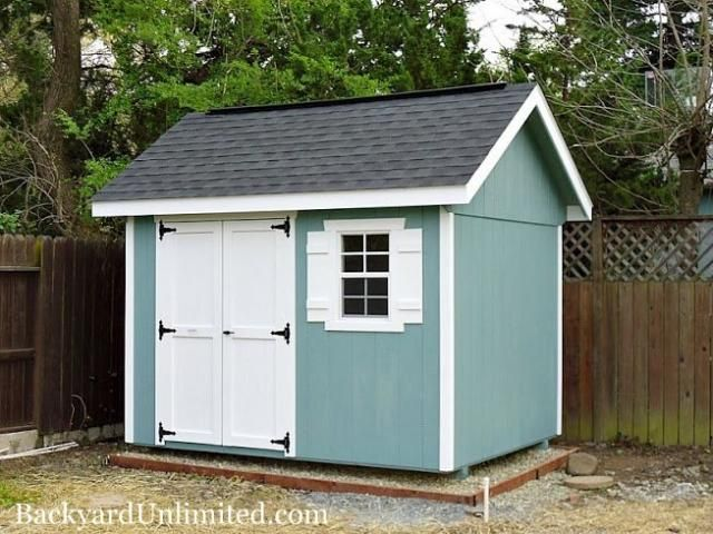 8x10 garden shed with ridge vent and custom paint http