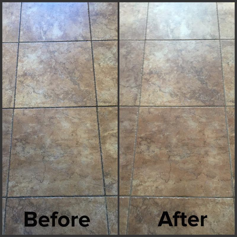 Before and After Of Tile and Grout Deep Cleaning
