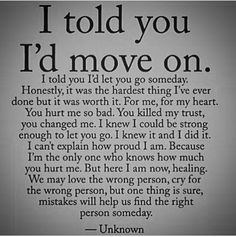 Moving On Quotes For Guys Cool I Vowed To You Once That Once I Had Moved On I Would Never Look