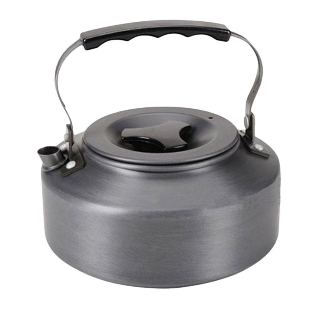 Aotu 1.1L Portable Ultra-light Outdoor Hiking Camping Aluminum Alloy Water Kettle Teapot Coffee Pot