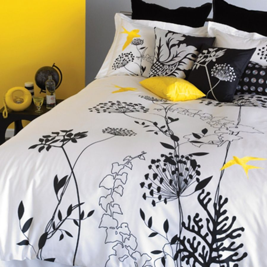 Master bedroom yellow walls  Blissliving Home Anis Yellow Duvet Set  For the Home  Pinterest