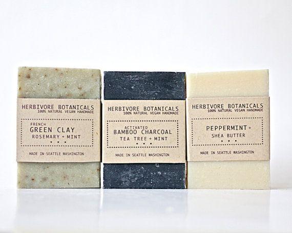 7c0cddf5ecc2 Man Soap Set Father s Day Gift 3 bar soap by HerbivoreBotanicals ...